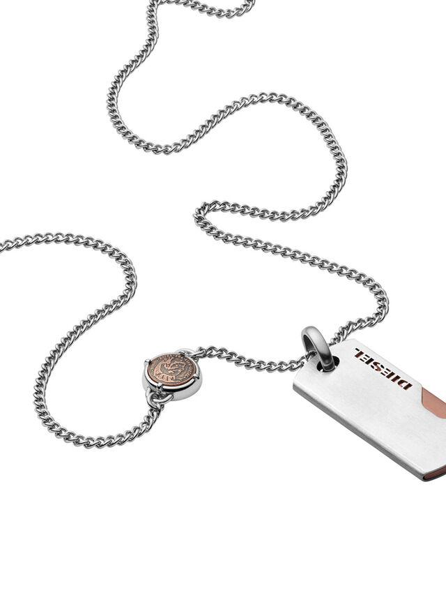 Diesel - NECKLACE DX1078, Silver - Necklaces - Image 1