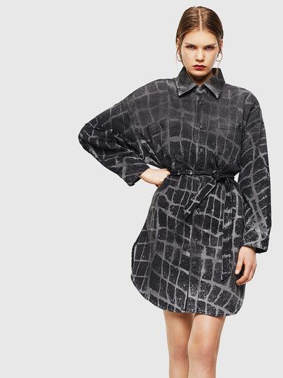 Diesel - D-PINKIES-SP JOGGJEANS, Black/Dark grey - Dresses - Image 1