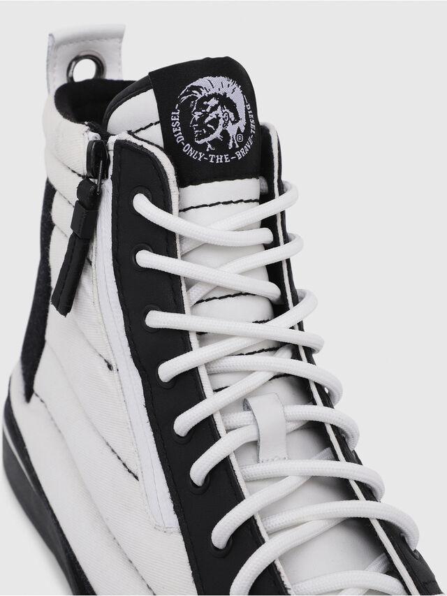 Diesel - D-VELOWS MID PATCH, White/Black - Sneakers - Image 5