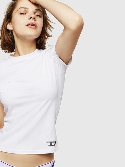 Diesel - UFTEE-ROUNDFEM, White - T-Shirts - Image 4