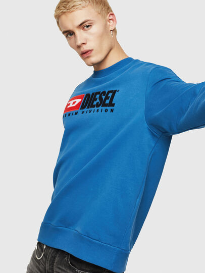 Diesel - S-CREW-DIVISION, Blue - Sweaters - Image 1