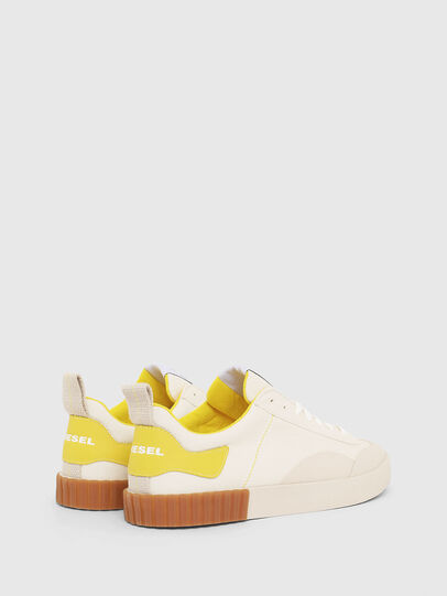 Diesel - S-BULLY LC, White/Yellow - Sneakers - Image 3