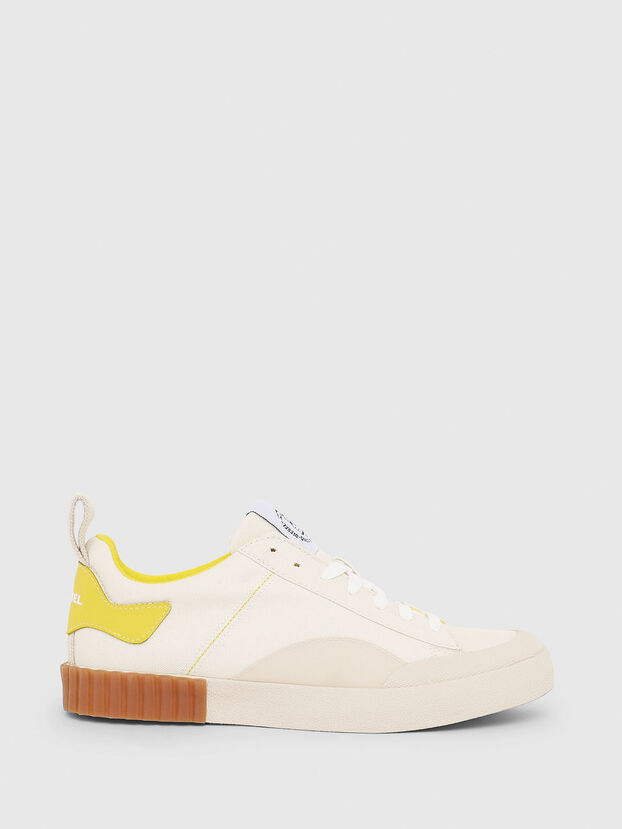 S-BULLY LC W, White/Yellow - Sneakers