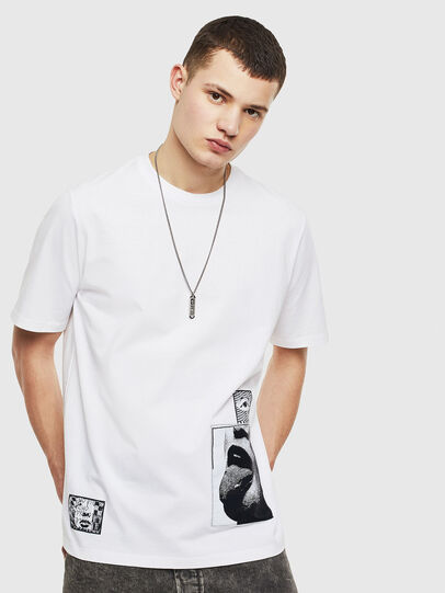 Diesel - T-JUST-T18, White - T-Shirts - Image 1