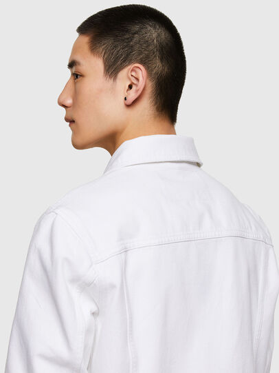 Diesel - NHILL-C1, White - Denim Jackets - Image 5