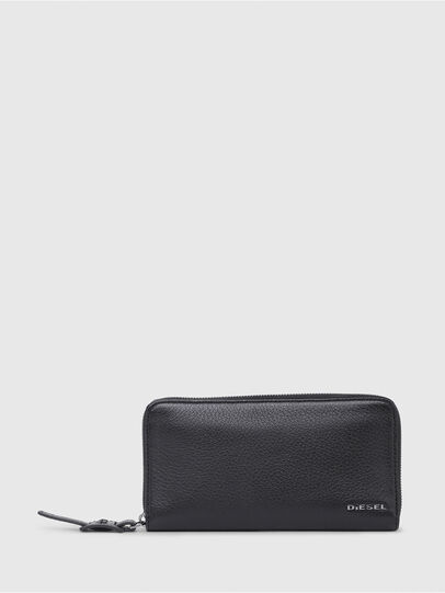 Diesel - 24 ZIP, Black - Small Wallets - Image 1