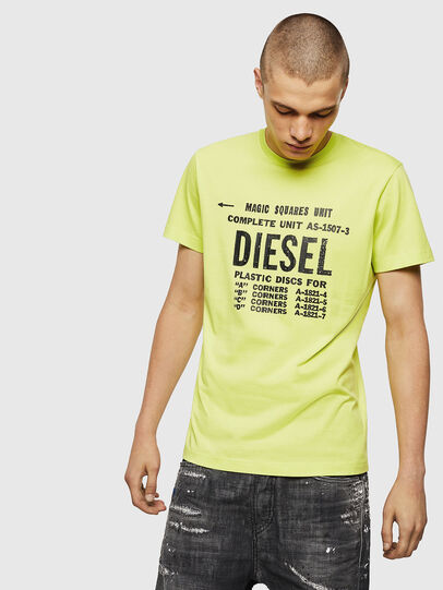 Diesel - T-DIEGO-B6, Yellow Fluo - T-Shirts - Image 1