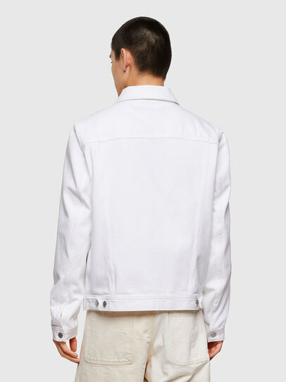 Diesel - NHILL-C1, White - Denim Jackets - Image 3