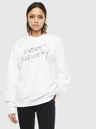 Diesel - F-ANG-S3, White - Sweaters - Image 1