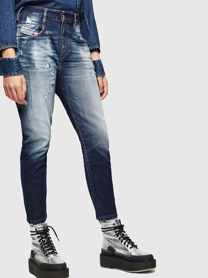 Diesel - Fayza 0092I, Dark Blue - Jeans - Image 7