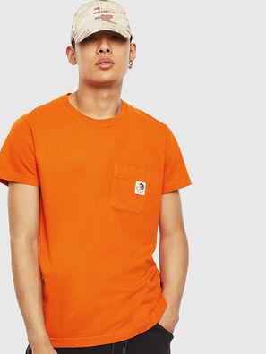 T-WORKY-MOHI-S1, Orange - T-Shirts