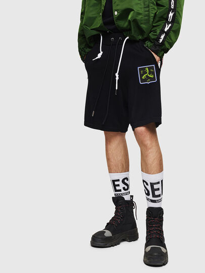 Diesel - K-ROB, Black - Shorts - Image 1