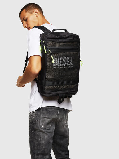 Diesel - MALU, Black/Blue - Backpacks - Image 6