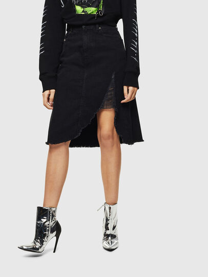 Diesel - DE-SISIL, Black - Skirts - Image 1