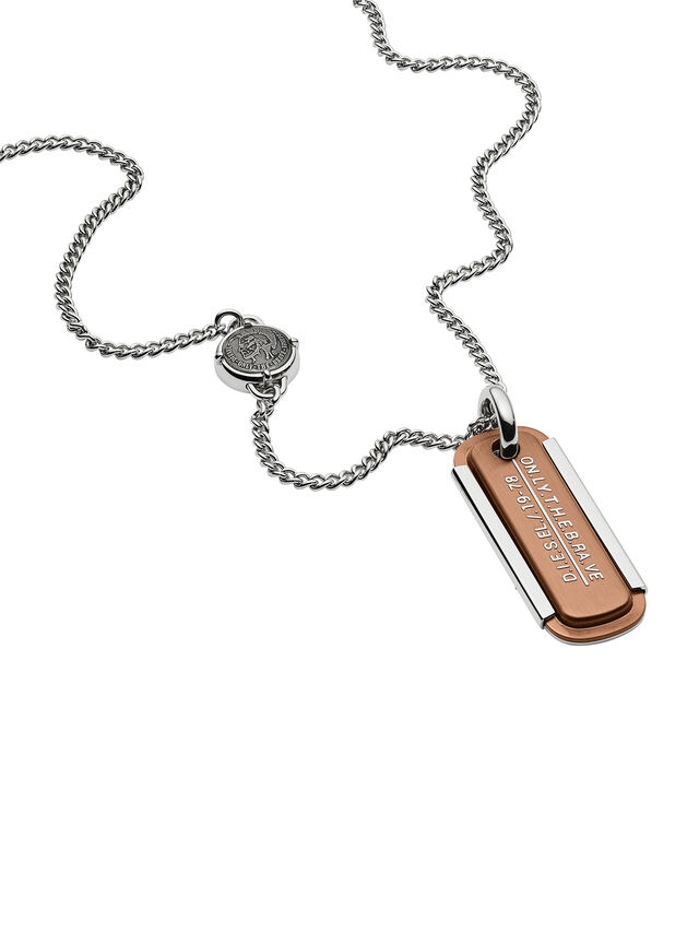 Diesel - NECKLACE DX1095, Bronze - Necklaces - Image 2