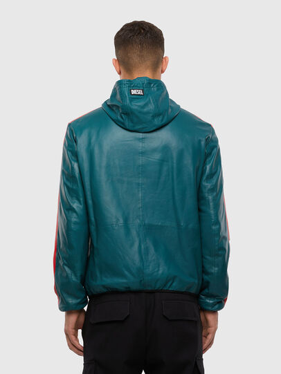 Diesel - L-MATHIAS, Water Green - Leather jackets - Image 2