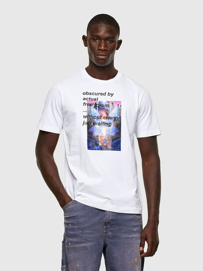 Diesel - T-JUST-A43, White - T-Shirts - Image 1