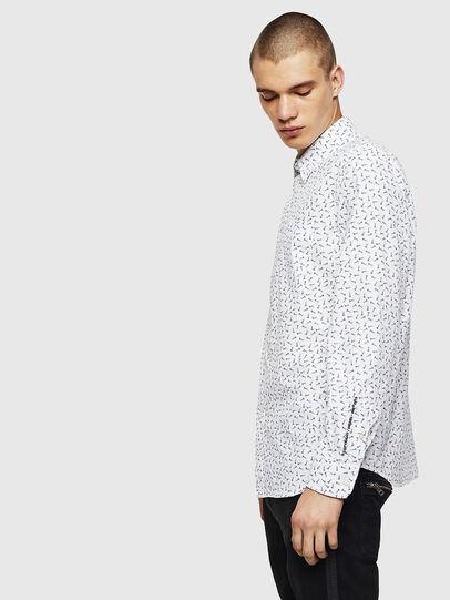 Diesel - S-VEN-NAIL, White - Shirts - Image 5