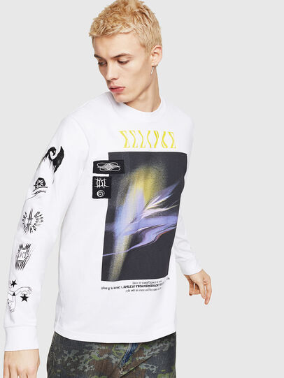 Diesel - T-JUST-LS-A3, White - T-Shirts - Image 1