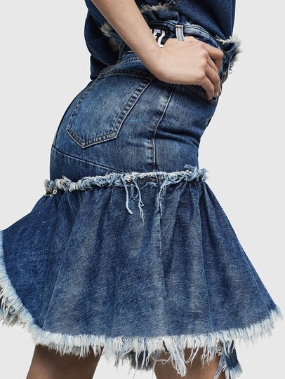 Diesel - DE-ALAYNA, Medium blue - Skirts - Image 5