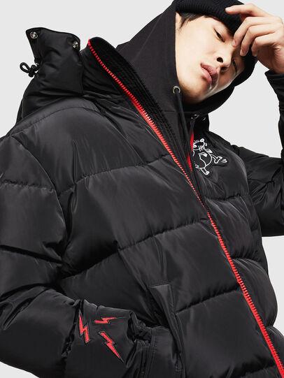 Diesel - CL-W-SMITH-LITM, Black - Winter Jackets - Image 4