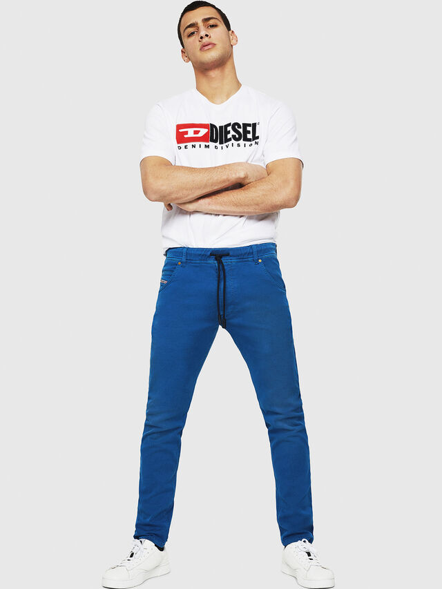 Diesel - Krooley JoggJeans 0670M, Brilliant Blue - Jeans - Image 4