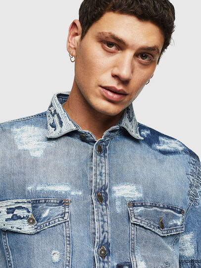 Diesel - D-HISAKY-SY, Blue Jeans - Denim Shirts - Image 3