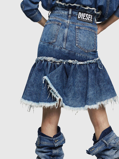 Diesel - DE-ALAYNA, Medium blue - Skirts - Image 2