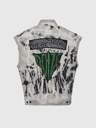 Diesel - D-RAFFO, Black/White - Denim Jackets - Image 2