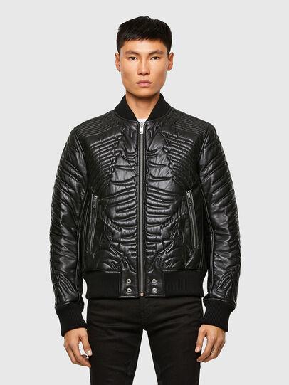 Diesel - L-FUTURE, Black - Leather jackets - Image 1