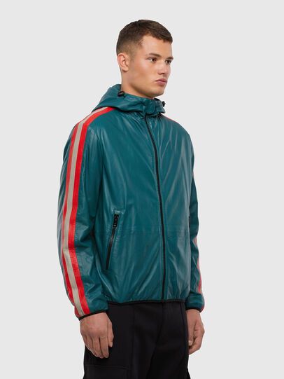 Diesel - L-MATHIAS, Water Green - Leather jackets - Image 5