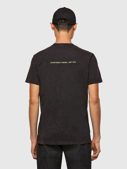 Diesel - T-DIEBIND-SLITS-A2, Black - T-Shirts - Image 2