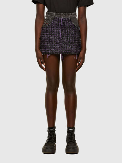 Diesel - O-SAN, Violet/Black - Skirts - Image 1