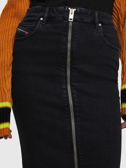 Diesel - DE-PENCIL-ZIP, Opaque Black - Skirts - Image 3