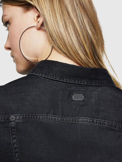 Diesel - DE-FLYP, Black/Dark grey - Denim Shirts - Image 5
