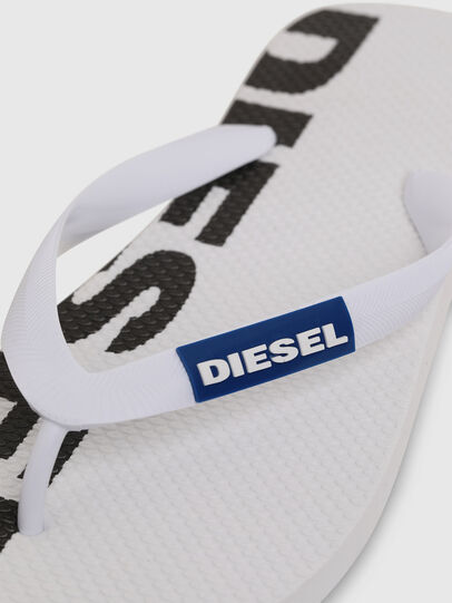 Diesel - SA-BRIIAN, White/Black - Slippers - Image 3