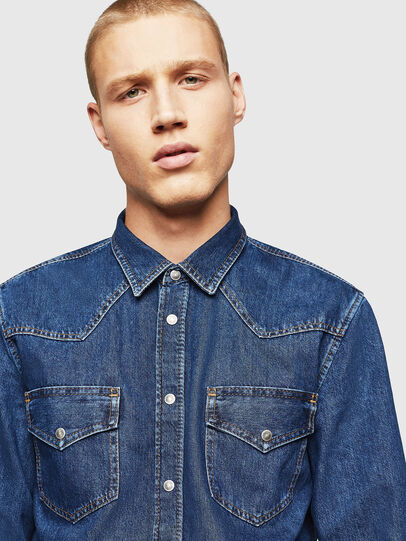 Diesel - D-EAST-P, Medium blue - Denim Shirts - Image 3