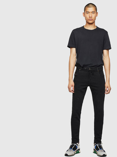 Diesel - Krooley JoggJeans 0092N, Black/Dark grey - Jeans - Image 6