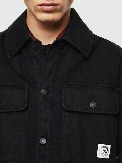 Diesel - D-WELLES, Black/Red - Denim Shirts - Image 4