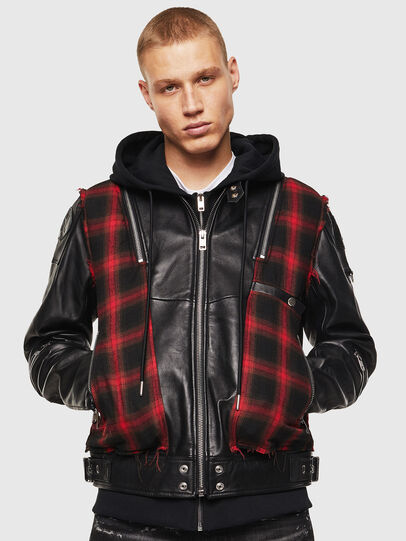 Diesel - L-NORMAN, Black - Leather jackets - Image 1