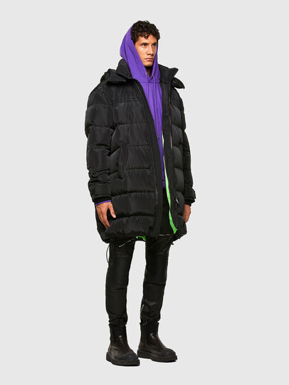 Diesel - W-RUSSELL-LONG, Black - Winter Jackets - Image 6