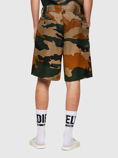 Diesel - P-BERTI-CAMU, Green/Brown - Shorts - Image 2
