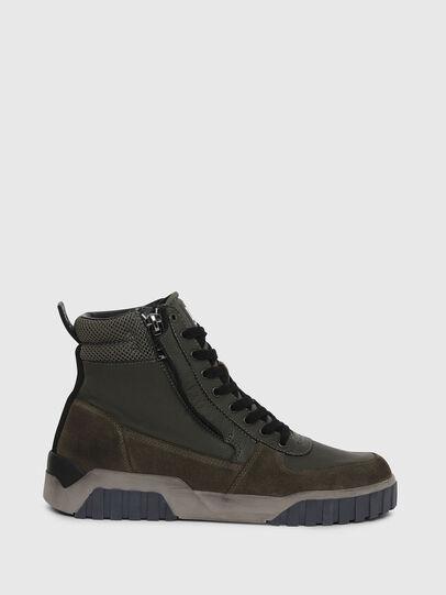 Diesel - S-RUA MID, Dark Green - Sneakers - Image 1