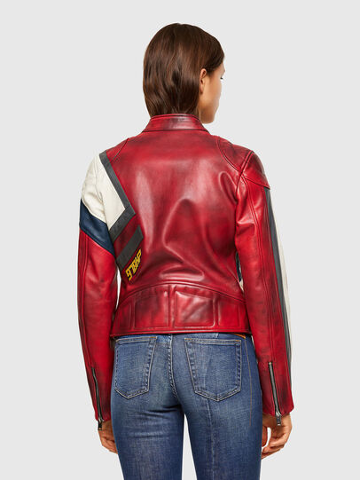 Diesel - L-POLLY, Red - Leather jackets - Image 2