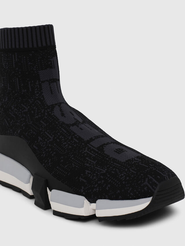 Diesel - H-PADOLA MID SOCK, Black - Sneakers - Image 4