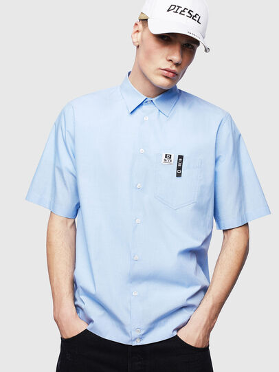 Diesel - S-FRY-FLUO, Light Blue - Shirts - Image 1