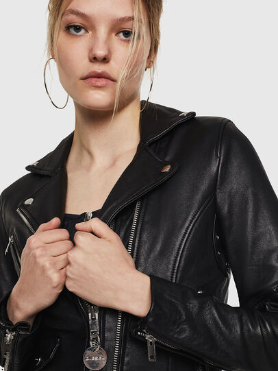Diesel - L-SINYA-A, Black - Leather jackets - Image 3