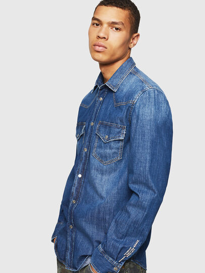 Diesel - D-EAST-P, Blue Jeans - Denim Shirts - Image 4