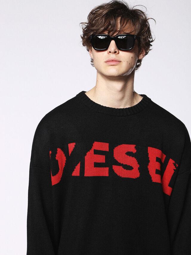 Diesel - DL0253, Black/Red - Eyewear - Image 5
