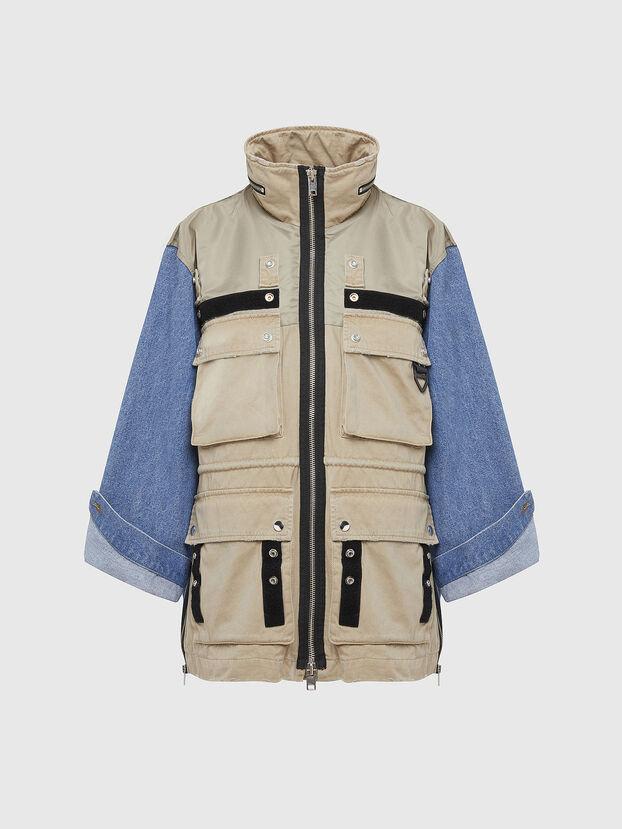 G-CLARICE, Beige/Blue - Jackets